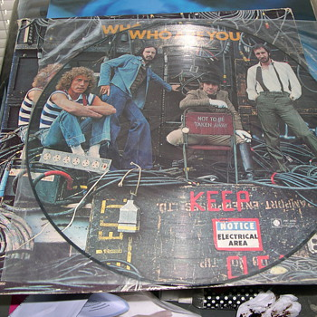 THE WHO WHO ARE YOU PICTURE ALBUM ON MCA RECORDS
