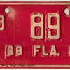 1968-1969 - Motorcycle License Plate (Florida)