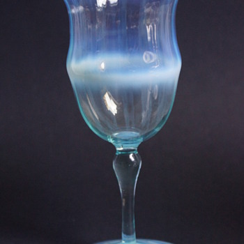 Blue Opal Wine Glass