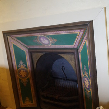 Minton fireplace tile panels - has anyone seen this type before?
