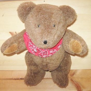 Unique Alga ALGA Brown Teddy Bear with Red Handkerchief