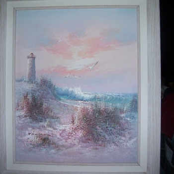 light house painting - Visual Art