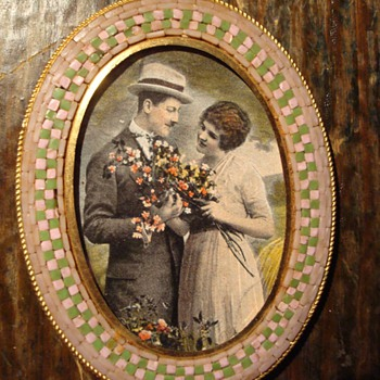 A Lovely Art Deco Era Micromosaic Frame