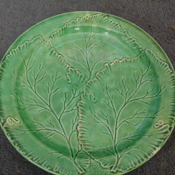 old leaf plate - Pottery