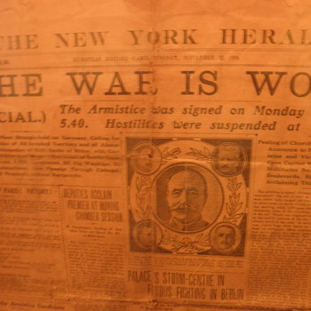 New York Herald 11/12/18 - Military and Wartime