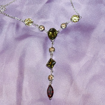 Nice Necklace - Possible Silver - Costume Jewelry
