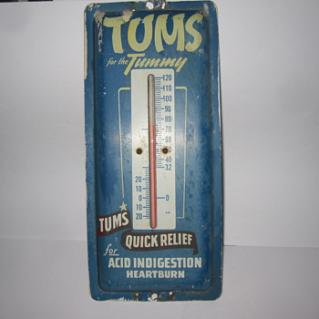Vintage Tums Outdoor Thermometer