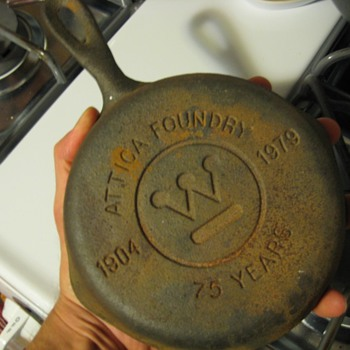 Attica foundry commerative cast iron skillet