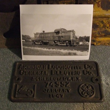 Monon Alco RS-2 Builders Plate - Railroadiana