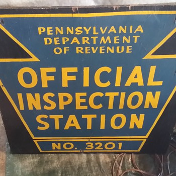 Personal Inspection: PA Offical Inspection Station  Sign