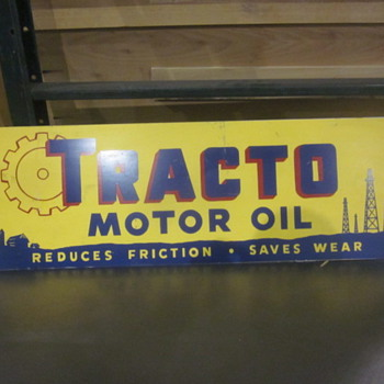 Tracto motor oil sign - Signs