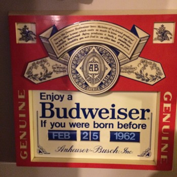 Budwieser 1980's sign - Breweriana