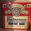 Budwieser 1980's sign