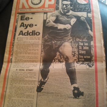 KOP September 21st 1966 Paper Liverpool F.C. - Football