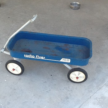 Vintage Blue Radio Flyer 100