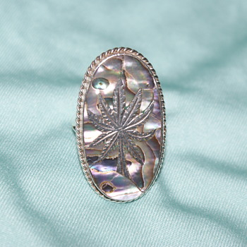 Mexican Sterling Silver and Abalone Ring - Fine Jewelry