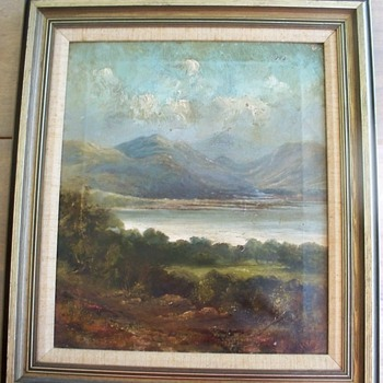 1800's Oil Painting on Canvas  Der Went Water