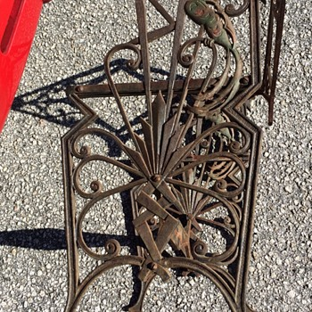 American Art Deco Cast Iron Chair Or Bench