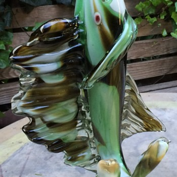 Murano Swordfish - 22 inches tall!  - Art Glass
