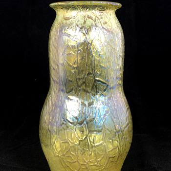 "Loetz ""Candia Mimosa"" Vase. PN II-5845. 7"" Tall. Circa 1908"