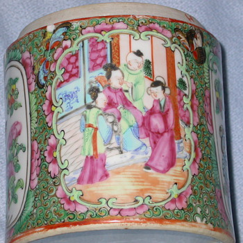 Antique Japanese or Chinese Covered Canister ? ? ? - Asian