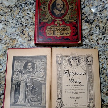 Shakespeare's MERKE 1900 BOOK'S SET, in German.