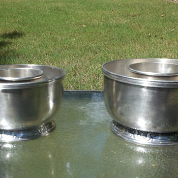 1934 Waldorf Astoria Silver Soldered bowl objects?