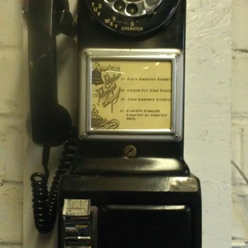 Western Electric three slot pay phone - Coin Operated