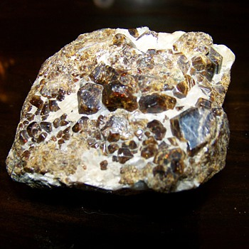 Androdite Garnet Calcite and Willemite Franklin NJ