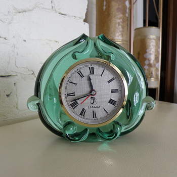 Fenton Green Glass clock