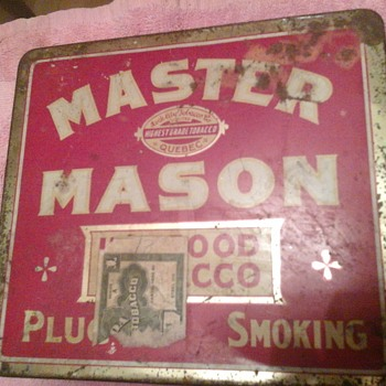 Master Mason Tobacco Tin - Tobacciana