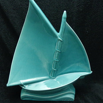 1930's Le Jan Ceramic Sailboat