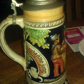 Musical German Beer Stein - Breweriana