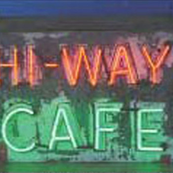 Vintage 1930's HI - WAY CAFE Antique Neon Sign All Original * Depression Era