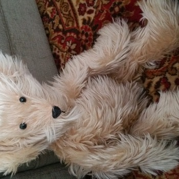 Vtg Teddy Bear Jointed and Makes Noise