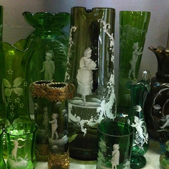 More pieces from my Mary Gregory Glass collection