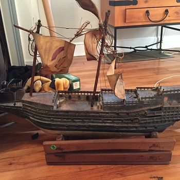 Vintage Ship, garage sale find