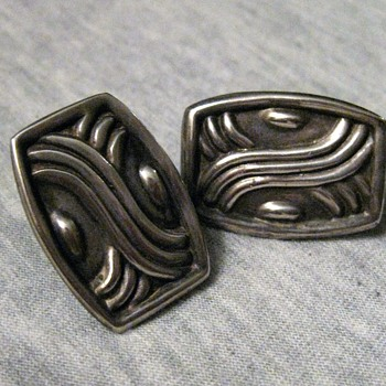 1930's sterling earrings from Mexico - Fine Jewelry