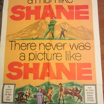 Shane (1953) - 27''x41'' One Sheet Poster - Dated 1959 - Movies
