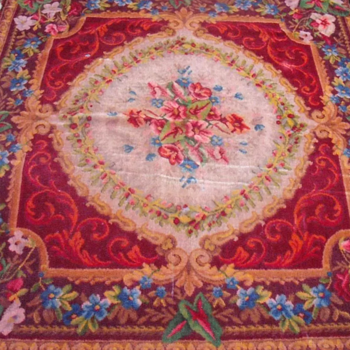 Old Aubusson Rug, but Machine made.