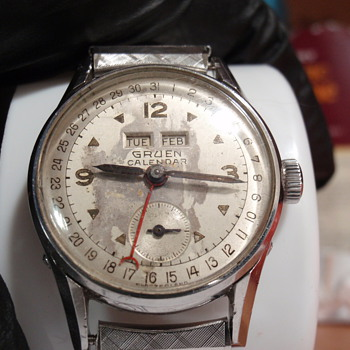 1953 Gruen Triple Date Calendar watch - Wristwatches