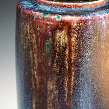 Large Émile Decoeur Flambe' Stoneware Vase - Art Nouveau