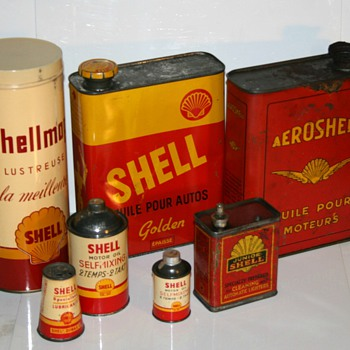 shell oil can collection part II - Petroliana