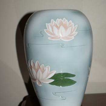 Copenhagen Porcelain B&G, Made in Denmark Water Lilly Vase