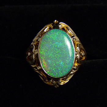 American Art Nouveau - Ostby & Barton Opal Ring