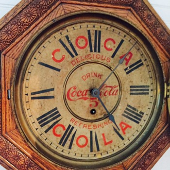 1901 Coca Cola, Welch schoolhouse style clock - Coca-Cola