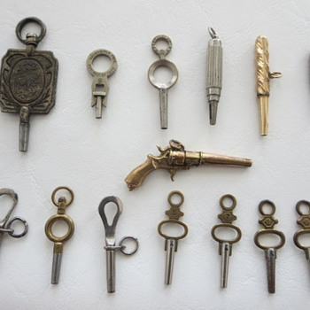 Old Pocket Watch Keys