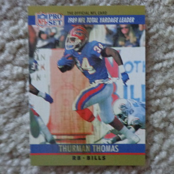 1990 Pro Set Thurman Thomas with Smeer ERROR - Cards