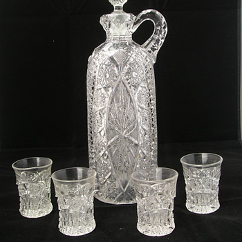 Whiskey Set of Unknown Pattern - Glassware