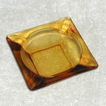 Anchor Hocking Amber Glass Ashtray